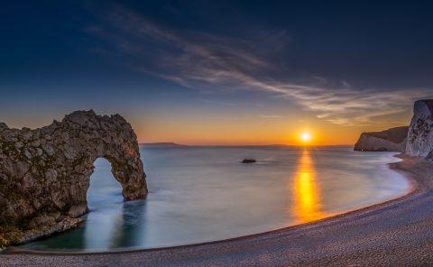 Photographing British coastline