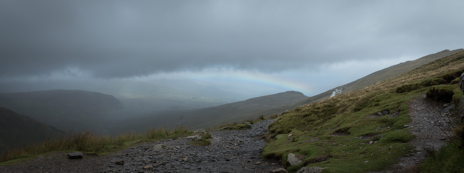 Hiking Snowdon Rainbow