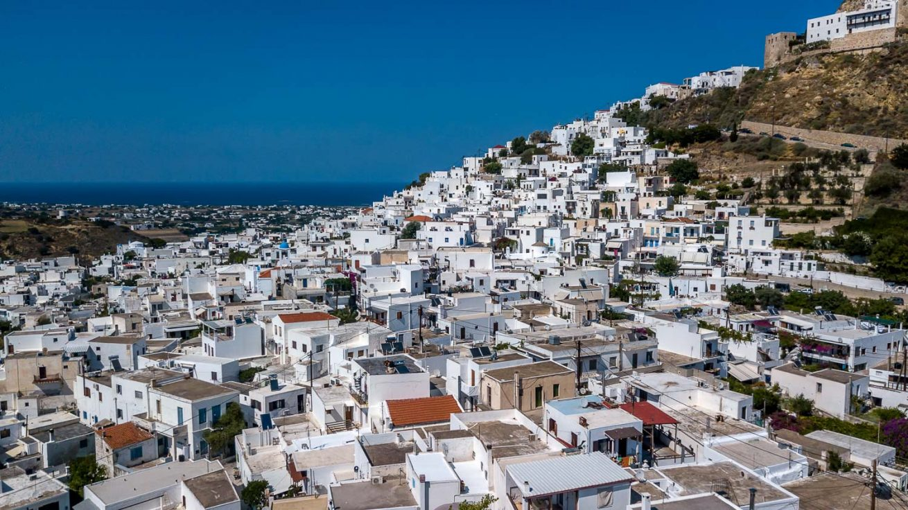 Skyros, Greece, Aerial Photography of Hora Town