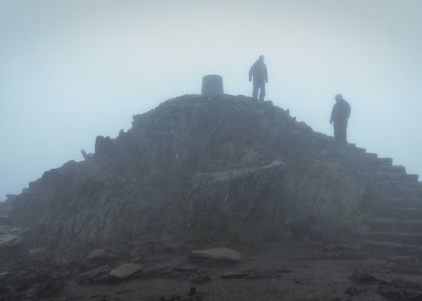 Hiking Snowdon summit