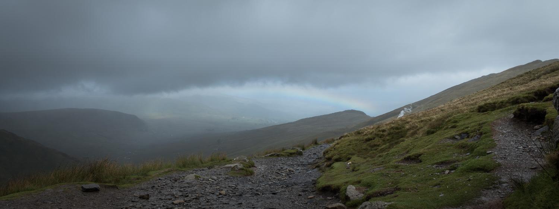 Hiking Snowdon Rainbow